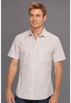Perry Ellis Slim Fit Fine Stripe S/S Shirt (Hammock) - Apparel