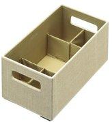 Rubbermaid Bento Storage Box with Flex Dividers, Medium, Loose Linen (1791947)