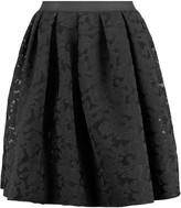 Sandro Janice pleated embroidered mesh skirt