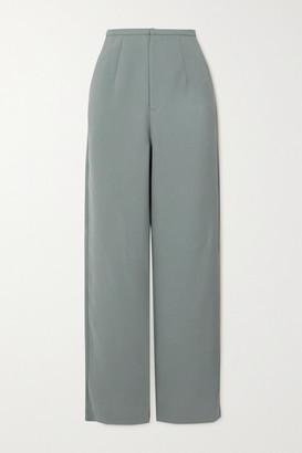 Totême Arles Woven Straight-leg Pants - Gray