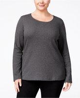 Karen Scott Plus Size Scoop-Neck Top, Only at Macy's