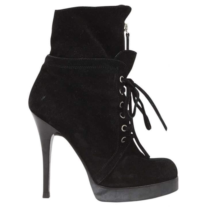 Giuseppe Zanotti Black Suede Ankle boots