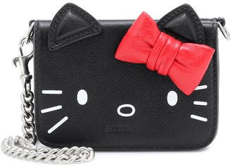 Balenciaga x Hello Kitty Mini leather wallet