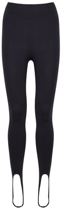 Simon Miller Evan Black Stretch-nylon Stirrup Leggings