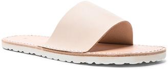Hender Scheme Leather Slide Sandals in Natural   FWRD