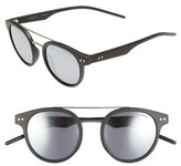 Polaroid Women's 49Mm Polarized Retro Sunglasses - Matte Black