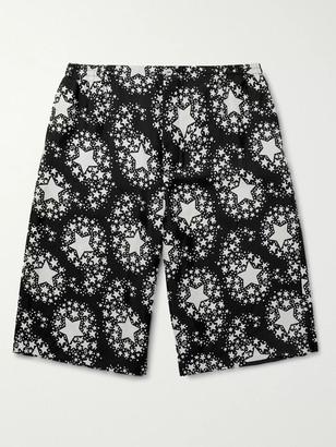 Gucci Wide-Leg Printed Silk-Twill Bermuda Shorts