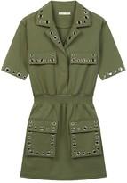 Maje Ramil Military Rivet Mini Dress