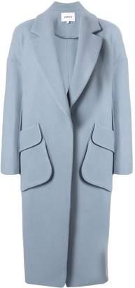 Enfold longline cocoon coat