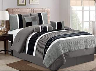 Esca 7 Piece Closeout Luxury Bed in Bag Comforter Set
