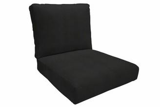 "Eddie Bauer Outdoor Sunbrella Seat/Back Cushion Fabric: Canvas Black, Size: 5"" H x 24"" W x 26"" D"