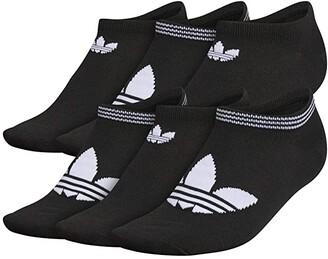 adidas Originals Trefoil Superlite 6-Pack No Show Sock (Black/White) Women's No Show Socks Shoes