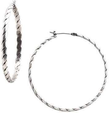 BCBGeneration Rope-Detail Hoop Earrings