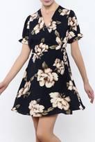 Babel Fair Navy Floral Wrap Dress