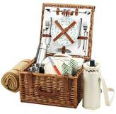Picnic at Ascot Cheshire Picnic Basket for 2 w/Coffee Set & Blanket
