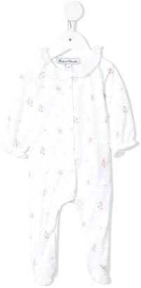 Tartine et Chocolat Printed Ruffled-Neck Pajamas