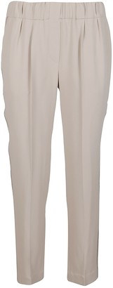 Brunello Cucinelli Elasticated Waistband Cropped Pants
