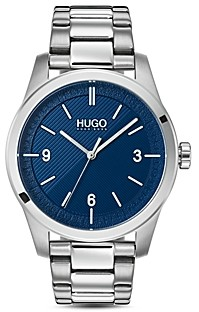 HUGO #Create Link Bracelet Blue Watch, 40mm