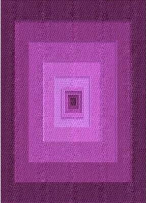 Nocona East Urban Home Geometric Wool Purple Area Rug East Urban Home Rug Size: Rectangle 4' x 6'