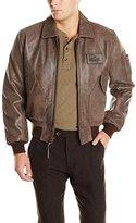 Alpha Industries Men's Leather CWU 45/P Bomber Jacket