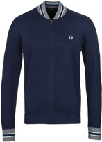 Fred Perry Tipped Dark Carbon Bomber Cardigan