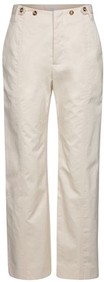 Deveaux Judi straight cotton twill pants