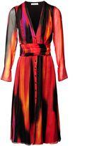 Matthew Williamson Blue Calypsonian Sunset V-Neck Shirt Dress