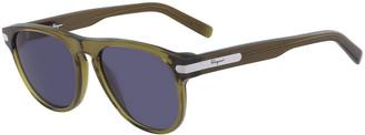 Salvatore Ferragamo Men's Classic Thick-Frame Acetate Sunglasses