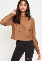 Missguided Brown Seam Detail Hoodie