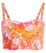 Ralph Lauren Tropical-Print Bikini Top Orange Multi 20