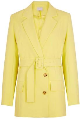 Gestuz Reem Yellow Belted Blazer