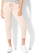 "New York & Co. ""Love NYC"" Cropped Drawstring Jogger Pant"