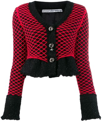 Alexander Wang Tweed Fishnet Jacket