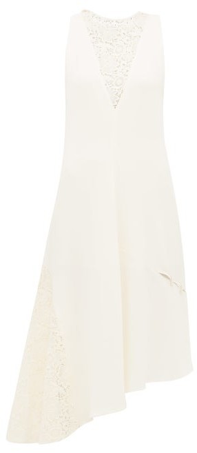 Thumbnail for your product : Tibi Guipure-lace Crepe Dress - Ivory