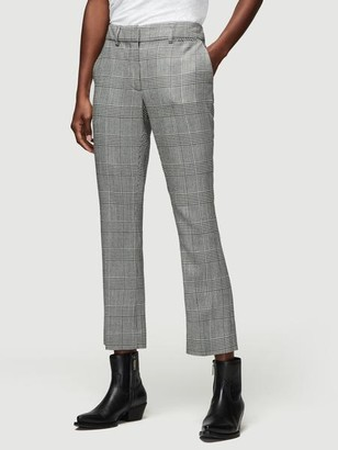 Frame Plaid Cropped Perfect Trouser