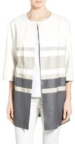 Lafayette 148 New York Women's Swiss Cotton Rib Square Neck Tee