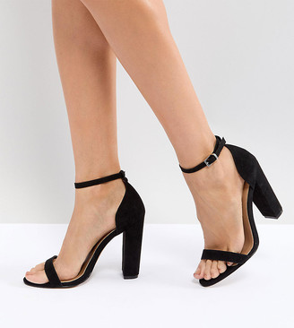 Barely There Asos Design ASOS DESIGN Highball Block Heeled sandals-Black