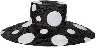 Eric Javits Dotty Squishee(R) Straw Hat