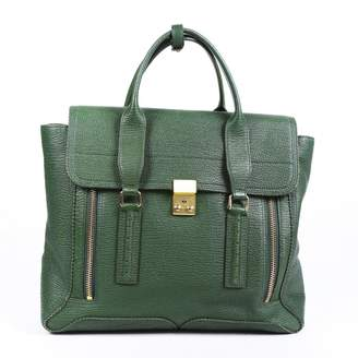 3.1 Phillip Lim Pashli Green Leather Handbags