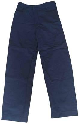 Totême \N Black Cotton Trousers for Women