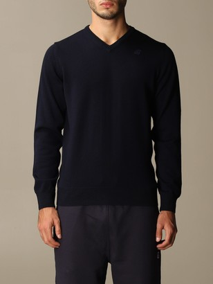 K-Way V-neck Sweater With Mini Logo
