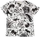 Gucci Tattoo Print Cotton Jersey T-Shirt