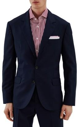 Brunello Cucinelli Illusion Stripe Wool Suit Jacket