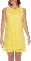 Tiana B Sleeveless Sunflower Lace A-Line Dress - Petite