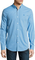 Original Penguin Gingham Long-Sleeve Cotton Shirt, Blue
