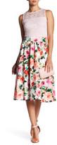 Alexia Admor Lace & Floral Scuba Dress