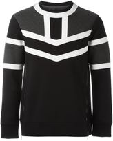 Neil Barrett colour block sweatshirt - men - Cotton/Spandex/Elastane/Lyocell/Viscose - L