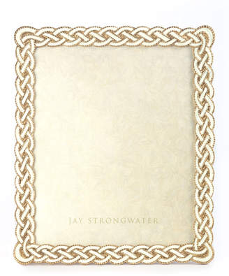 """Jay Strongwater Cream Braided Picture Frame, 8"""" x 10"""""""