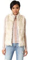 BB Dakota Women's Petite Brewer Faux Fur Vest