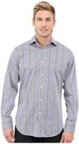 Thomas Dean & Co. Long Sleeve Woven Poplin Check